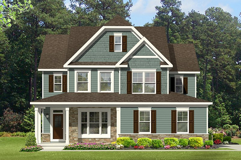 Architectural House Design - Colonial Exterior - Front Elevation Plan #1010-130