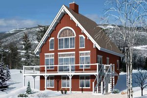 European Exterior - Front Elevation Plan #23-2488