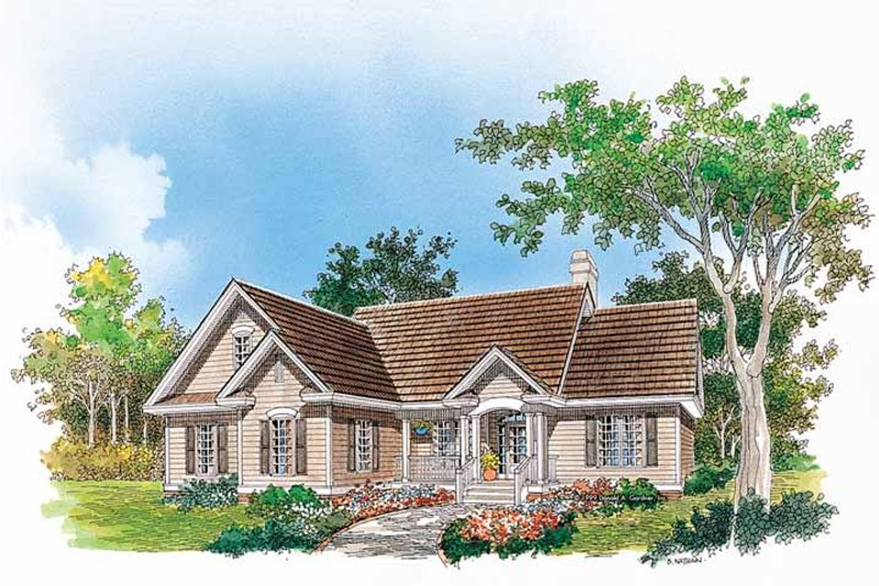 Architectural House Design - Ranch Exterior - Front Elevation Plan #929-476