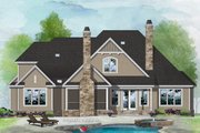 Craftsman Style House Plan - 4 Beds 3.5 Baths 2574 Sq/Ft Plan #929-1080 Exterior - Rear Elevation