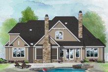 Architectural House Design - Craftsman Exterior - Rear Elevation Plan #929-1080