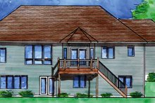 Prairie Exterior - Rear Elevation Plan #320-995