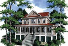 Architectural House Design - Country Exterior - Front Elevation Plan #37-242
