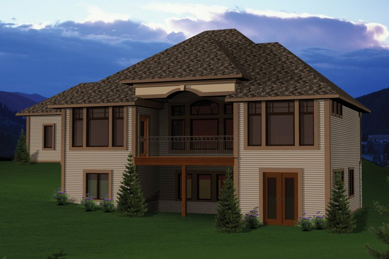 Ranch Exterior - Rear Elevation Plan #70-1067 - Houseplans.com