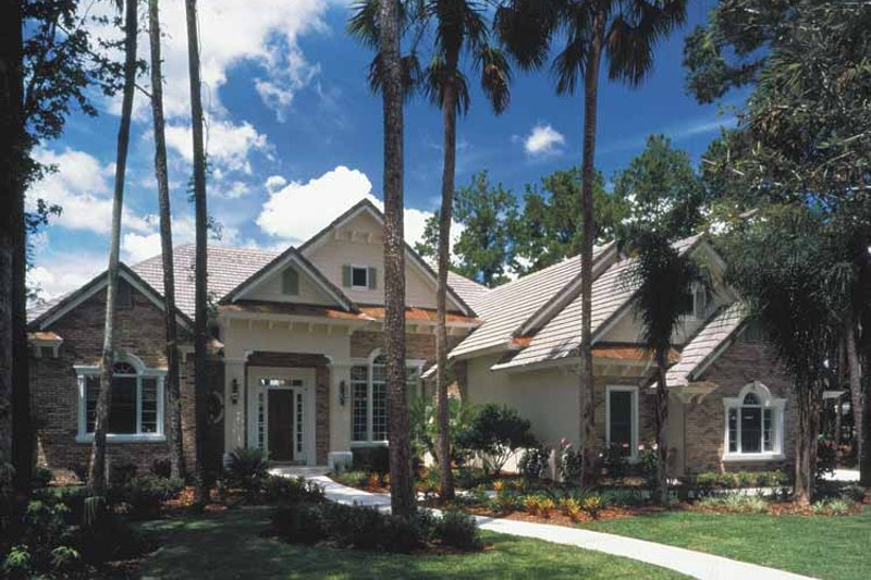Architectural House Design - Colonial Exterior - Front Elevation Plan #417-666
