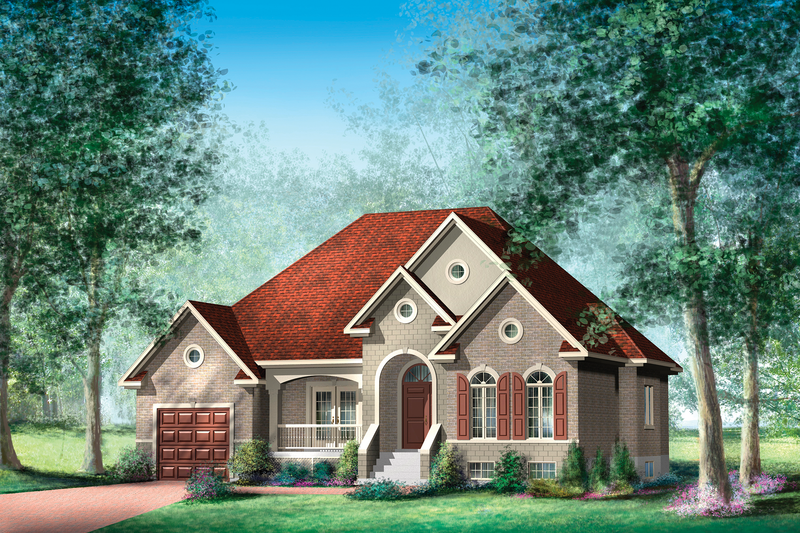 Traditional Style House Plan - 2 Beds 2 Baths 1490 Sq/Ft Plan #25-4441 Exterior - Front Elevation