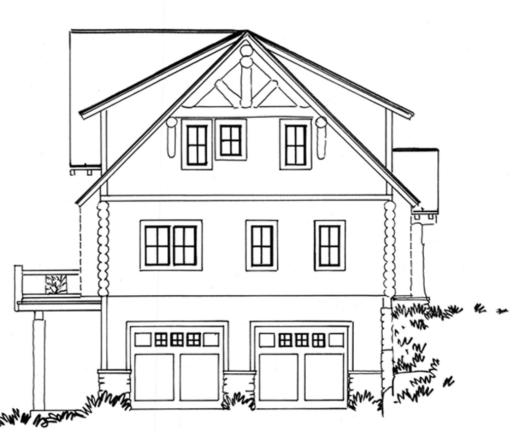 Log Style House Plan 3 Beds 2 5 Baths 2002 Sq Ft Plan