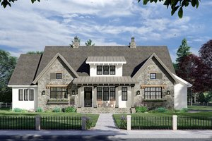 Farmhouse Exterior - Front Elevation Plan #51-1163
