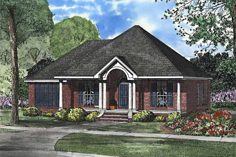 Classical Exterior - Front Elevation Plan #17-3247 - Houseplans.com