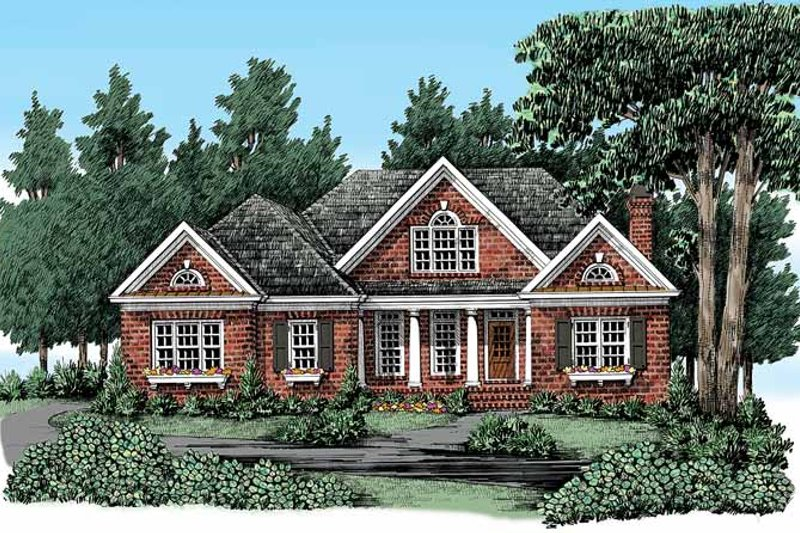 House Plan Design - Traditional Exterior - Front Elevation Plan #927-328