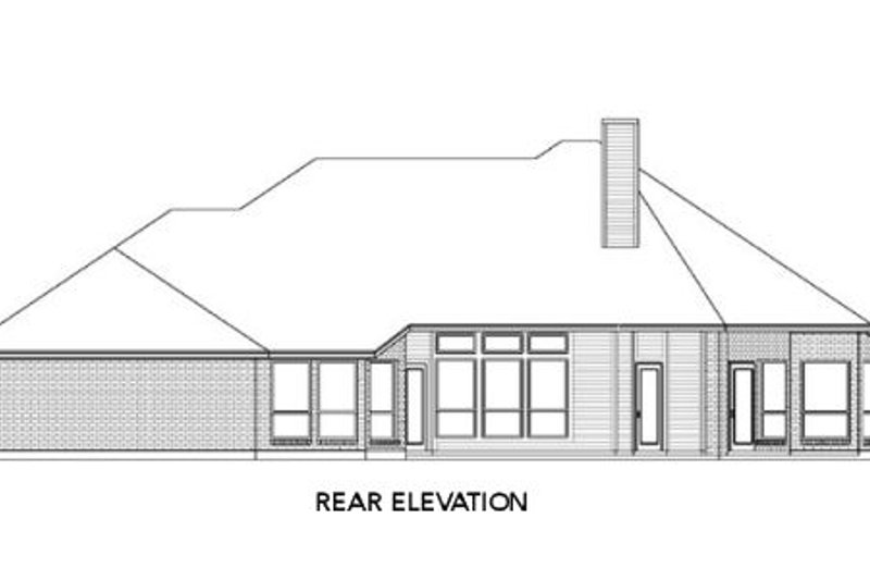 Traditional Exterior - Rear Elevation Plan #84-237 - Houseplans.com