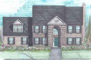 European Style House Plan - 4 Beds 2.5 Baths 2436 Sq/Ft Plan #136-115