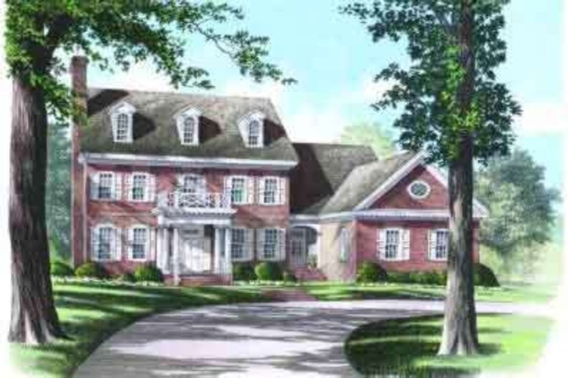 Colonial Exterior - Front Elevation Plan #137-209