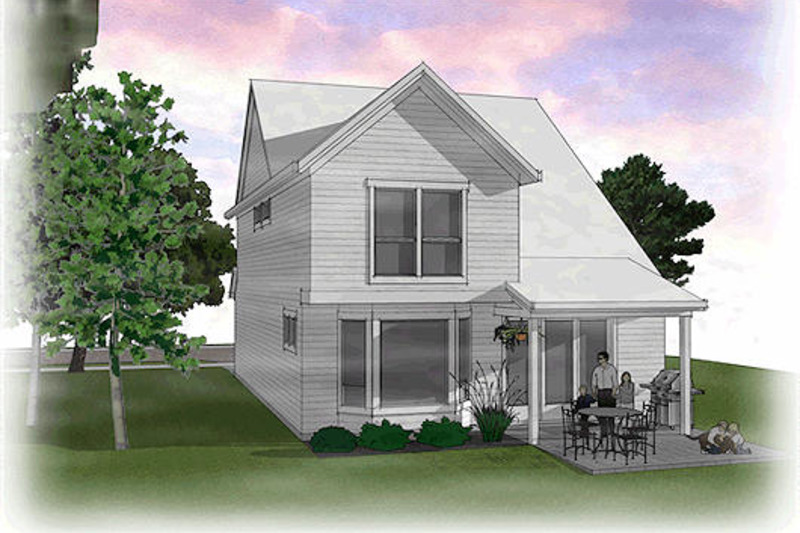 Traditional Exterior - Rear Elevation Plan #48-484 - Houseplans.com