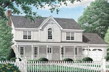 House Plan Design - Country Exterior - Front Elevation Plan #34-152