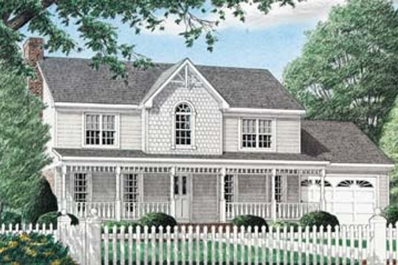 Country Exterior - Front Elevation Plan #34-152