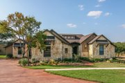 European Style House Plan - 4 Beds 3 Baths 2930 Sq/Ft Plan #80-177 Exterior - Front Elevation