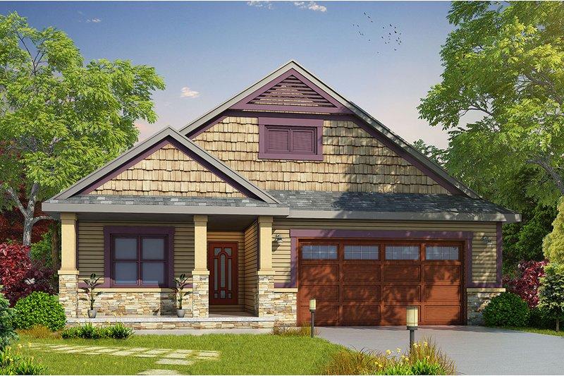 Craftsman Style House Plan - 2 Beds 2.5 Baths 1676 Sq/Ft Plan #20-2262