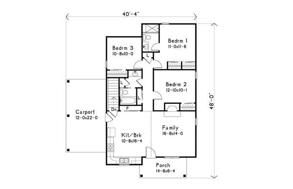 Home Plan Design - Bungalow Floor Plan - Main Floor Plan #22-585