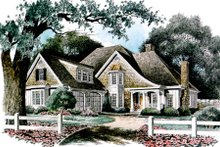 Dream House Plan - European Exterior - Front Elevation Plan #429-22