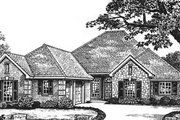 Traditional Style House Plan - 4 Beds 2.5 Baths 1990 Sq/Ft Plan #310-588 Exterior - Front Elevation