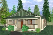 Bungalow Style House Plan - 3 Beds 2 Baths 1500 Sq/Ft Plan #422-28 Exterior - Front Elevation