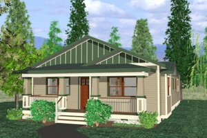 Bungalow Exterior - Front Elevation Plan #422-28