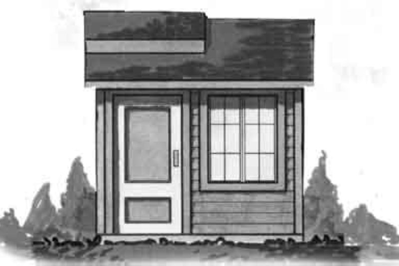 Cottage Exterior - Front Elevation Plan #23-464