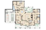 Southern Style House Plan - 4 Beds 2.5 Baths 2157 Sq/Ft Plan #36-196 Floor Plan - Main Floor