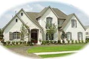 European Style House Plan - 4 Beds 3.5 Baths 3769 Sq/Ft Plan #81-574 Exterior - Front Elevation