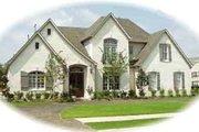 European Style House Plan - 4 Beds 3.5 Baths 3769 Sq/Ft Plan #81-574