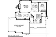 Southern Style House Plan - 4 Beds 3 Baths 2952 Sq/Ft Plan #70-1230 Floor Plan - Main Floor Plan