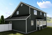 Traditional Style House Plan - 3 Beds 2.5 Baths 1621 Sq/Ft Plan #1060-4 Exterior - Rear Elevation
