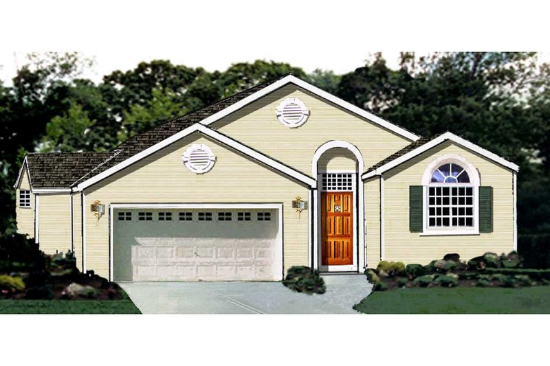 Dream House Plan - Traditional Exterior - Front Elevation Plan #3-121