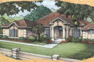 Mediterranean Exterior - Front Elevation Plan #115-119