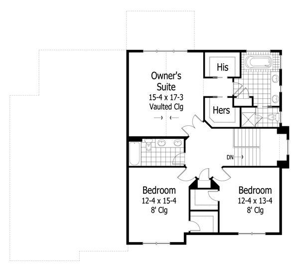 Craftsman Floor Plan - Upper Floor Plan #51-424