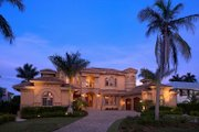 Mediterranean Style House Plan - 5 Beds 5.5 Baths 6812 Sq/Ft Plan #548-11 Exterior - Front Elevation