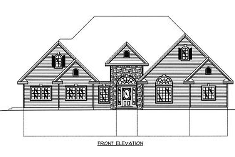 Traditional Exterior - Other Elevation Plan #117-545 - Houseplans.com