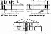 Modern Style House Plan - 4 Beds 3 Baths 2582 Sq/Ft Plan #67-731 Exterior - Rear Elevation