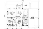 Craftsman Style House Plan - 4 Beds 3.5 Baths 3313 Sq/Ft Plan #51-453 Floor Plan - Main Floor Plan