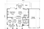 Craftsman Style House Plan - 4 Beds 3.5 Baths 3313 Sq/Ft Plan #51-453 Floor Plan - Main Floor
