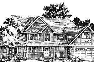 Home Plan Design - Traditional Exterior - Front Elevation Plan #18-277