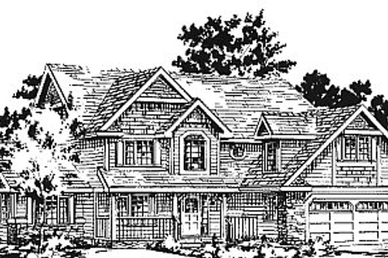 House Blueprint - Traditional Exterior - Front Elevation Plan #18-277