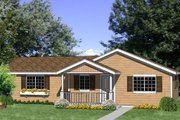 Ranch Style House Plan - 4 Beds 2 Baths 1232 Sq/Ft Plan #116-300 Exterior - Front Elevation