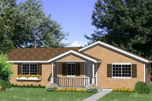 Ranch Exterior - Front Elevation Plan #116-300