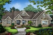 Ranch Style House Plan - 4 Beds 3 Baths 2494 Sq/Ft Plan #929-1005 Exterior - Front Elevation