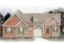 Architectural House Design - Traditional Exterior - Front Elevation Plan #54-351