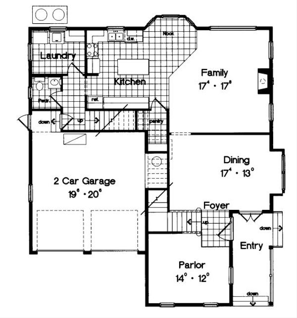 Traditional Floor Plan - Main Floor Plan Plan #417-271