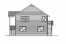 Home Plan - Modern Exterior - Rear Elevation Plan #117-195