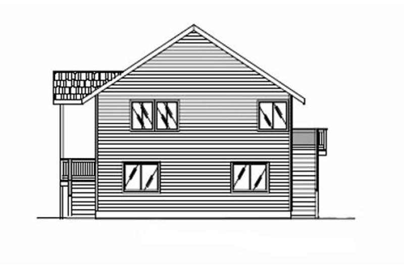 Modern Exterior - Rear Elevation Plan #117-195 - Houseplans.com